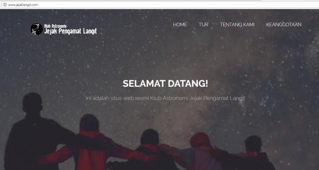 jejak langit website